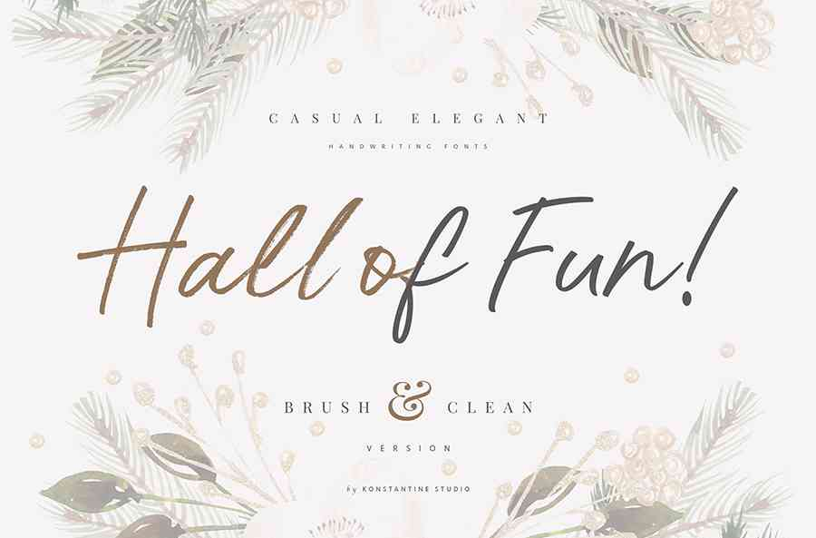 Hall Of Fun Script Font Free Download