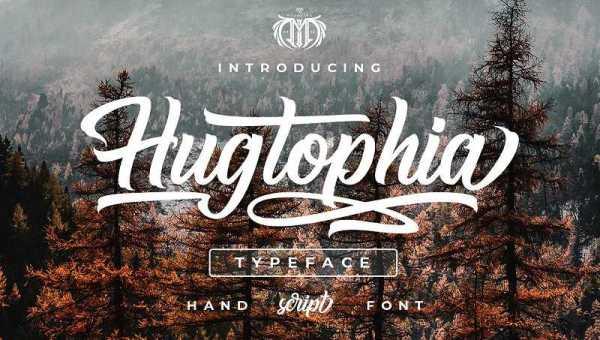 Hugtophia Script Font Free Download