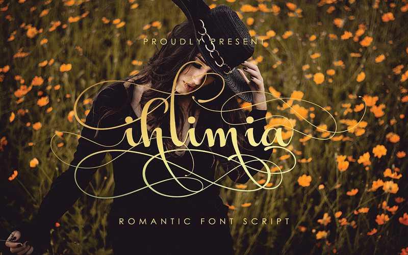Ihlimia Romantic Script Font Free Download - Dafont Free