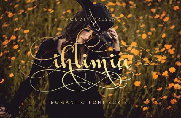 Ihlimia Romantic Script Font Free Download