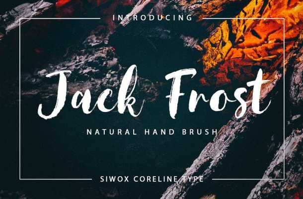 Jack Frost Brush Font Free Download