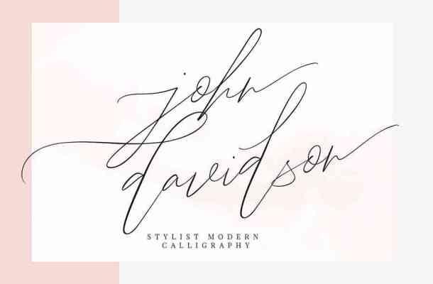 John Davidson Script Font Free Download