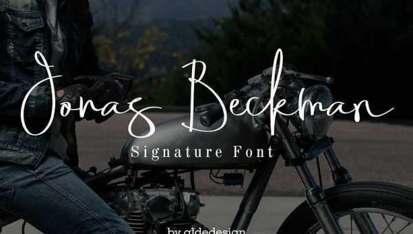 Jonas Beckman Signature Font Free Download
