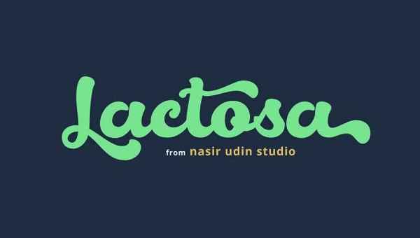 Lactosa Script Font Free Download