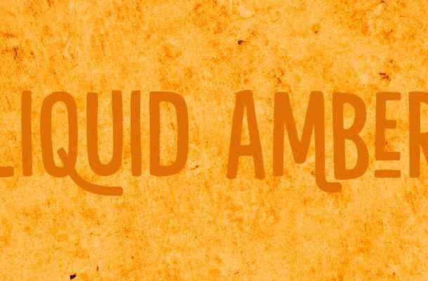 Liquid Amber Font Free Download