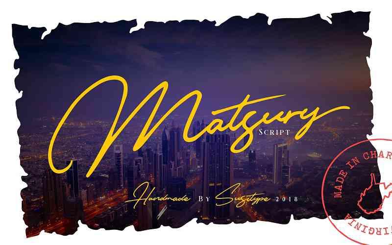 matsury-script-font0