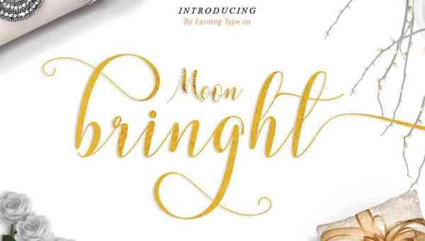 Moonbringht Script Font Free Download