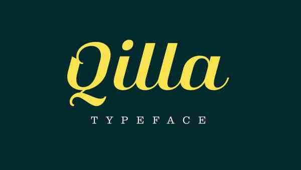 Qilla Typeface Free Download