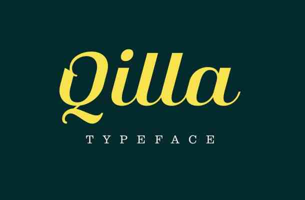 Qilla Typeface Free Download