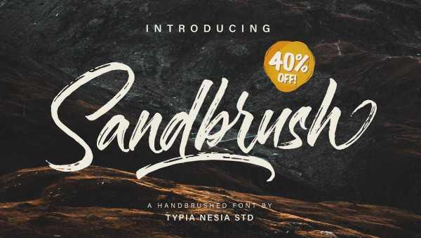 Sandbrush Brush Font Free Download