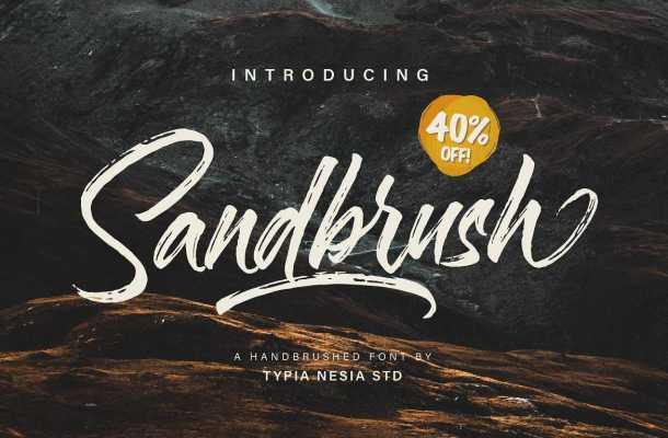 Sandbrush Brush Font Free Download