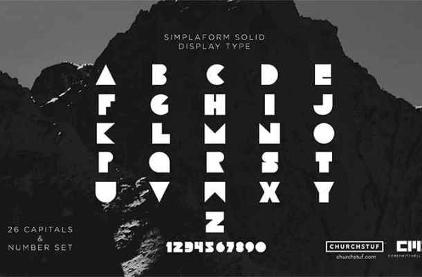 Simplaform Solid Font Free Download