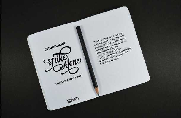 Strike Alone Script Font Free Download