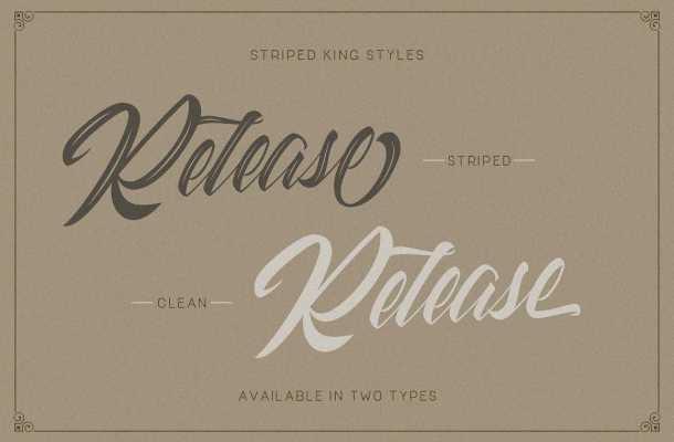 Striped King Script Font Free Download