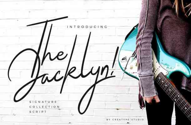 The Jacklyn Signature Font Free Download