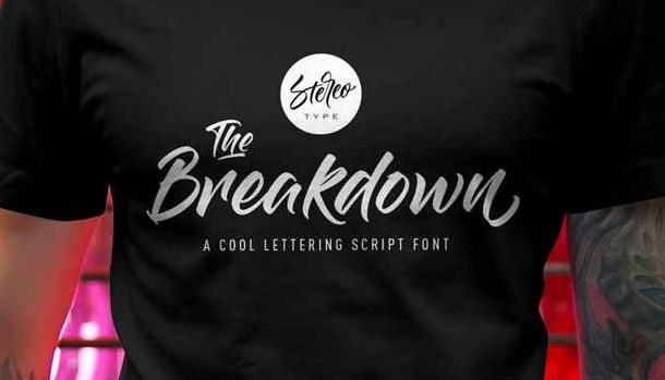 The Breakdown Font Free Download