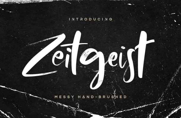 Zeitgeist Brush Font Free Download