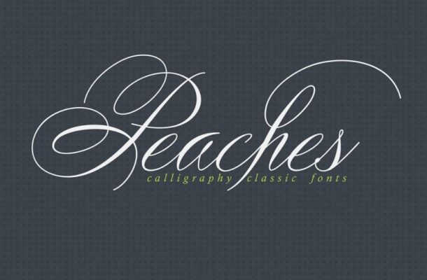Peaches Calligraphic Font Free Download