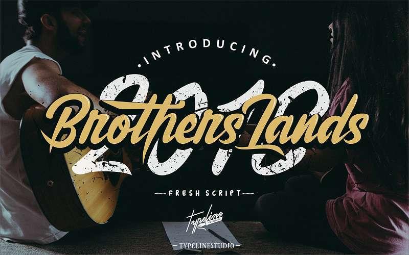 brother-lands-script-font1