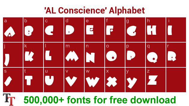 AL Conscience font