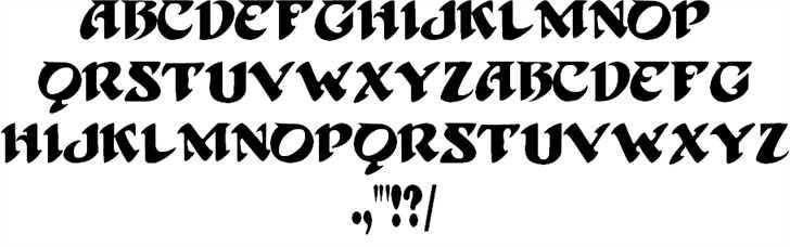 BlackBeard font 2