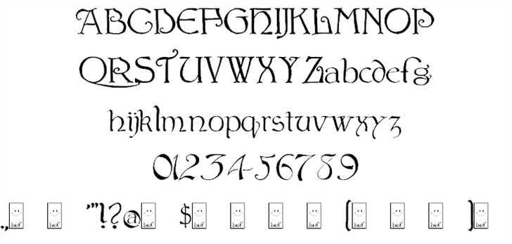 Bu Scarecrow font