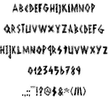 DK Scurvy Dog font 2