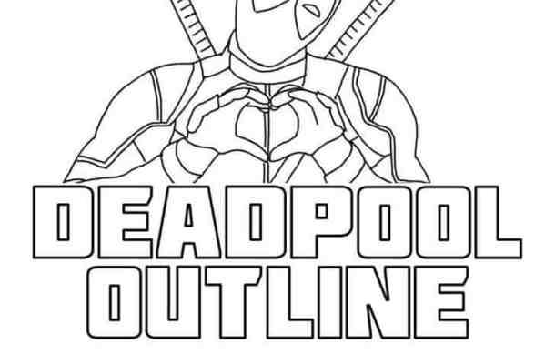 Deadpool Outline font
