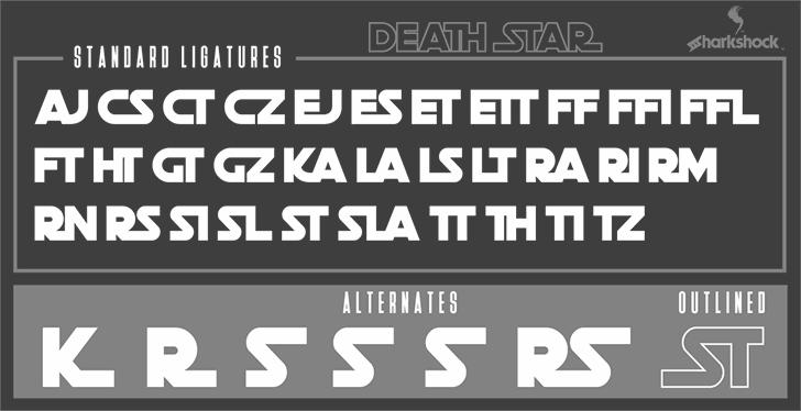 Death Star font 2