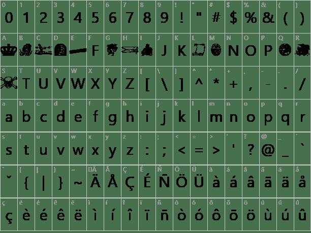 Fantasy clipart 2 font 2