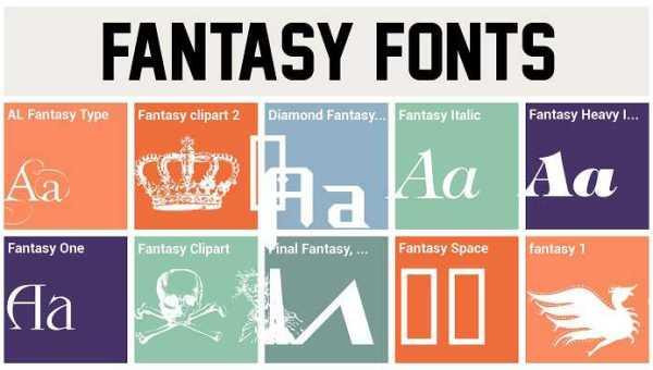Fantasy clipart 2 font