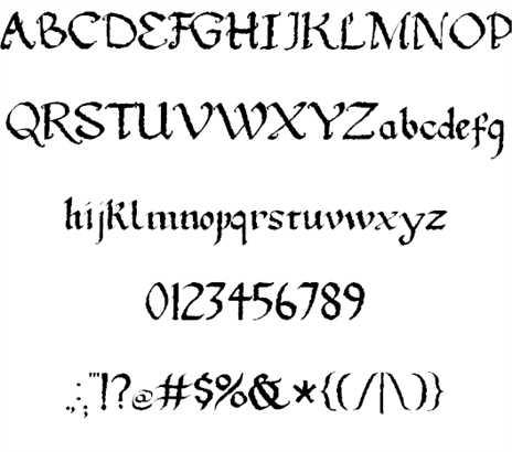 Gothic Ultra Trendy font 2