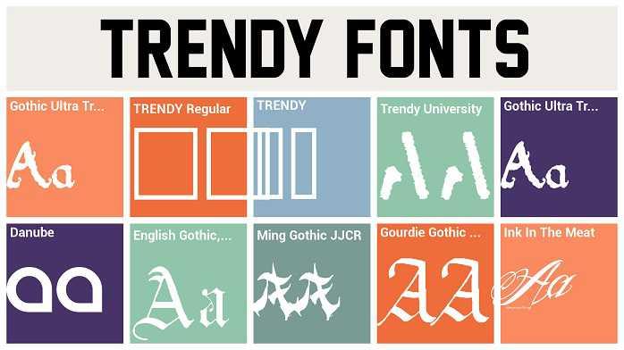 Gothic Ultra Trendy font
