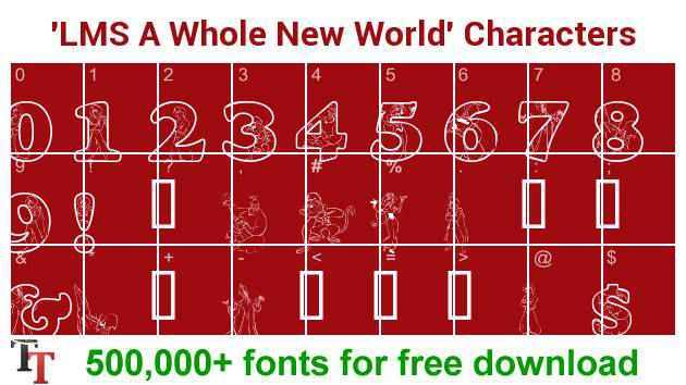 LMS-A-Whole-New-World-font