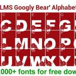 LMS Googly Bear font