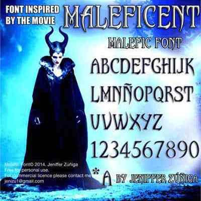 Malefic Font