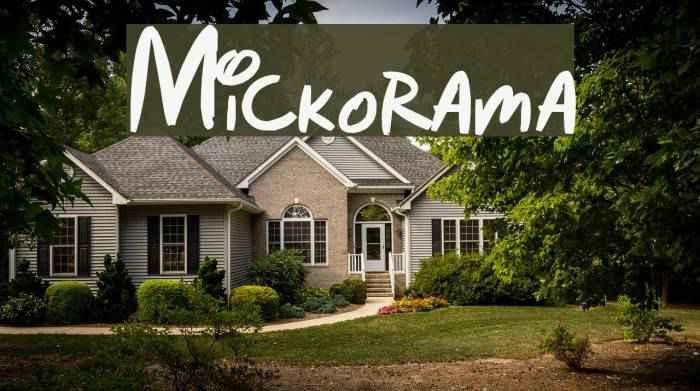 Mickorama-font