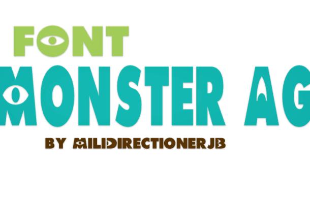 Monster AG font