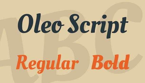 Oleo Script Font