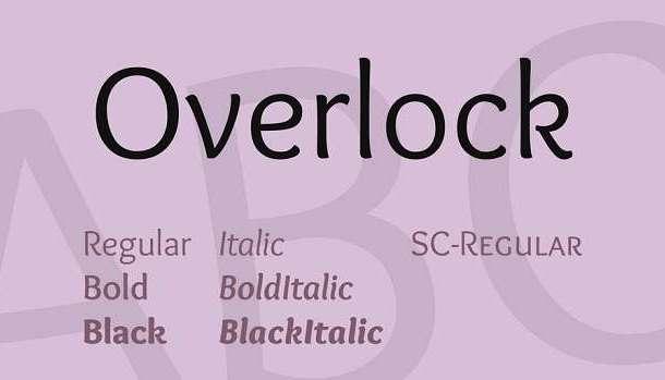 Overlock Font