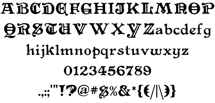 Primitive font 2