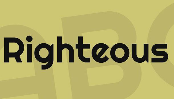 Righteous Font
