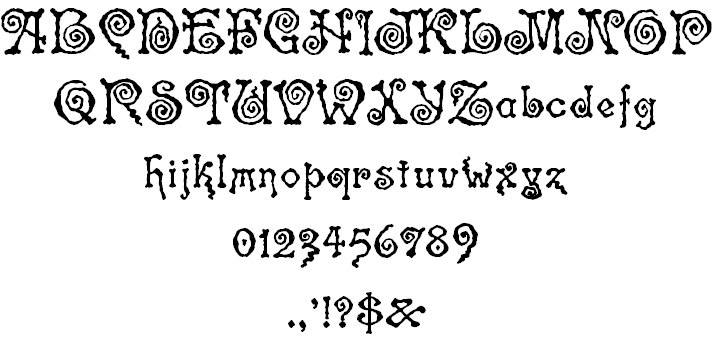 Spinstee font 2