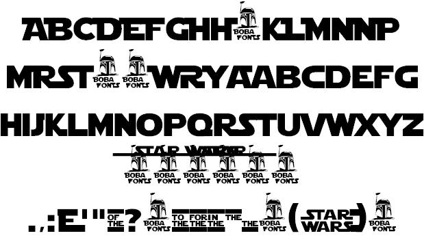 Star Jedi Logo font 2
