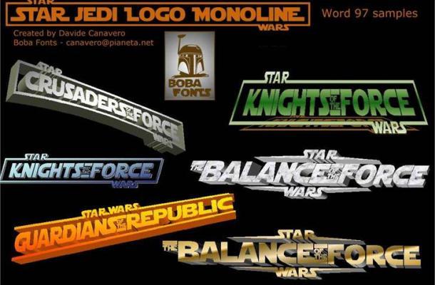 Star Jedi Logo font
