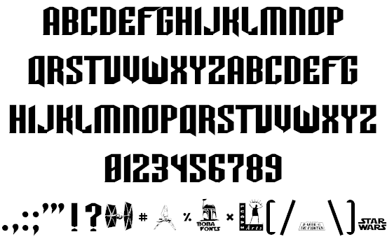 TIE-Wing font 2