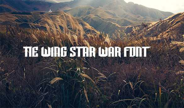 TIE-Wing font