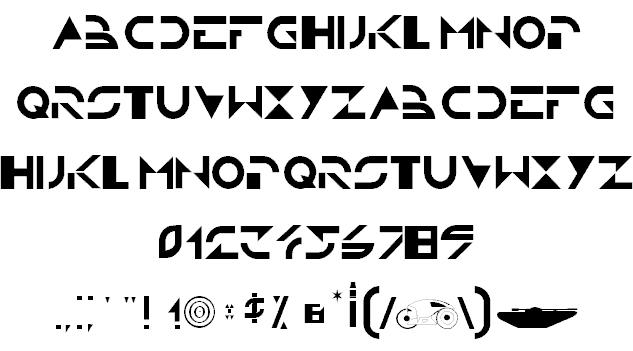 TRON font 2