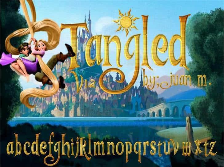 Tangled v1 2 font - Dafont Free