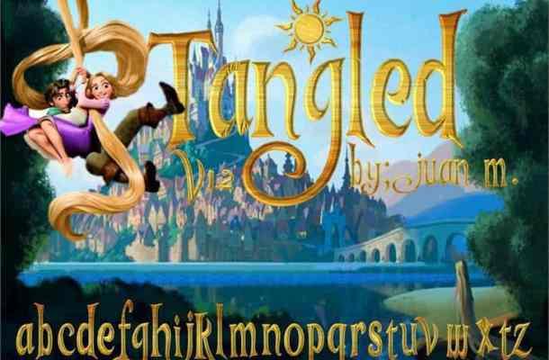 Tangled v1.2 font